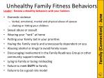 unhealthy family fitness behaviors