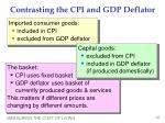contrasting the cpi and gdp deflator