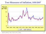 two measures of inflation 1950 2007