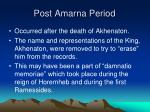 post amarna period
