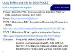 using emma and aim for dod pcols37