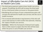 impact of affordable care act aca on health care costs