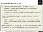 socialized health care
