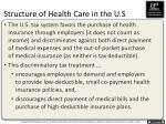 structure of health care in the u s2