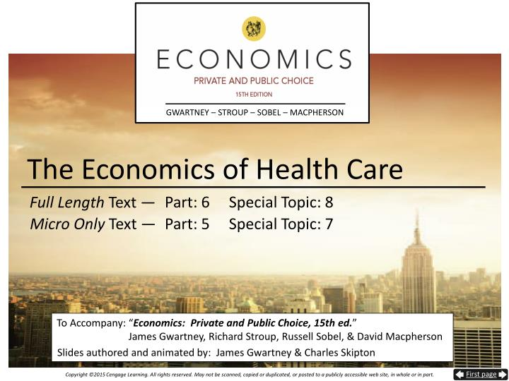 the economics of health care n.