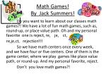 math games by jack summers