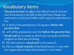 vocabulary items7