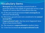 vocabulary items8