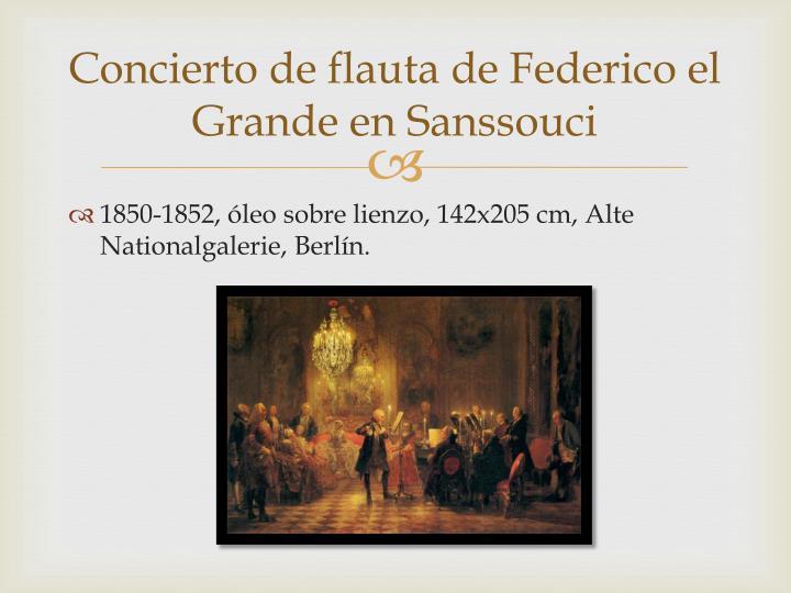 Concierto de flauta de Federico el Grande en