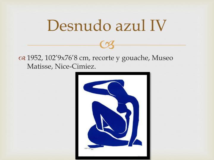 Desnudo azul IV