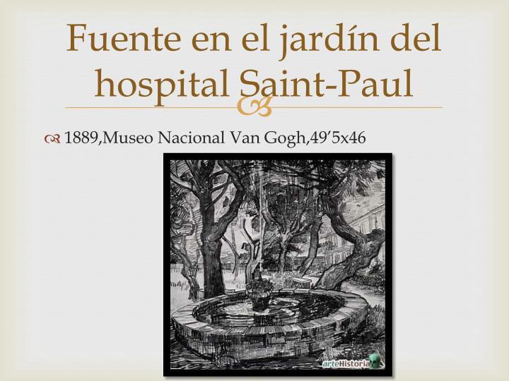 Fuente en el jardín del hospital Saint-Paul