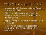 2013 2014 governor s budget