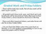 graded work and friday folders