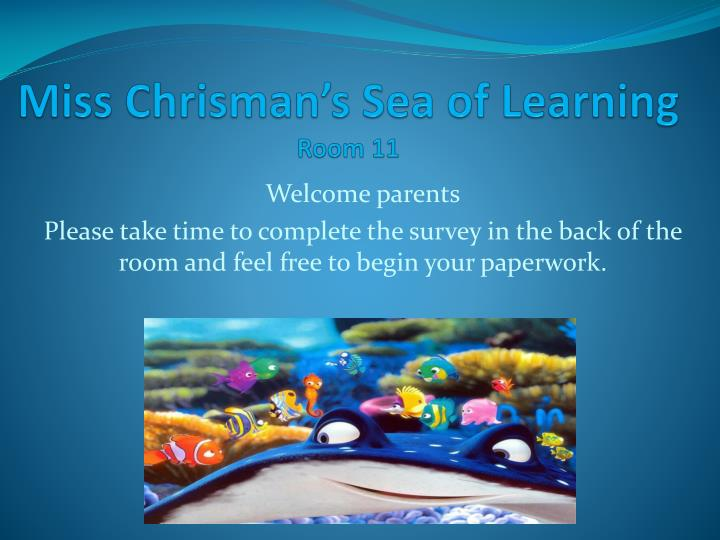 miss chrisman s sea of learning room 11 n.