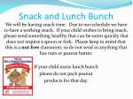 snack and lunch bunch