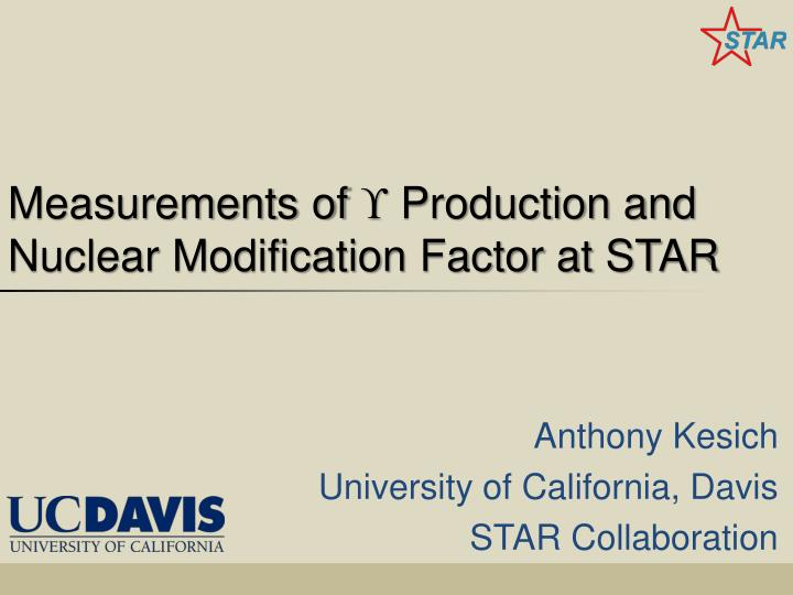 measurements of production and nuclear modification factor at star n.