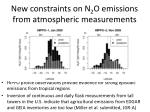new constraints on n 2 o emissions from atmospheric measurements