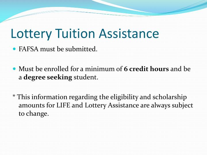 Lottery Tuition Assistance