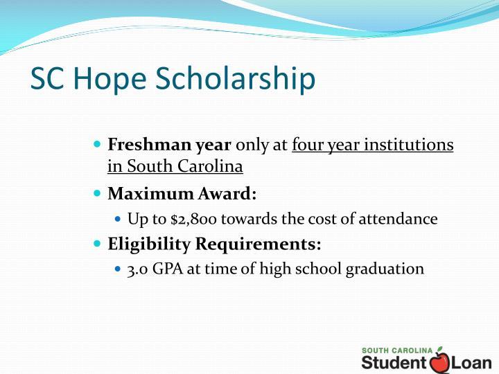 SC Hope Scholarship