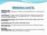 websites cont d