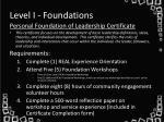 level i foundations