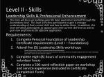level ii skills
