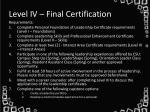 level iv final certification1