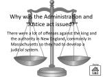 why was the administration and justice act issued