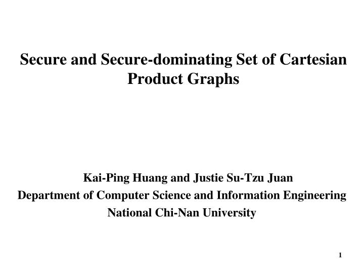 secure and secure dominating set of cartesian product graphs