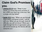 claim god s promises to you