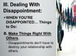 iii dealing with disappointment2