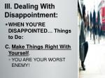 iii dealing with disappointment3