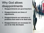 why god allows disappointments