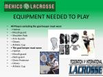 equipment needed to play