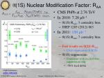 1s nuclear modification factor r aa