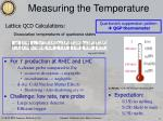 measuring the temperature