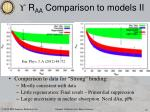 r aa comparison to models ii1