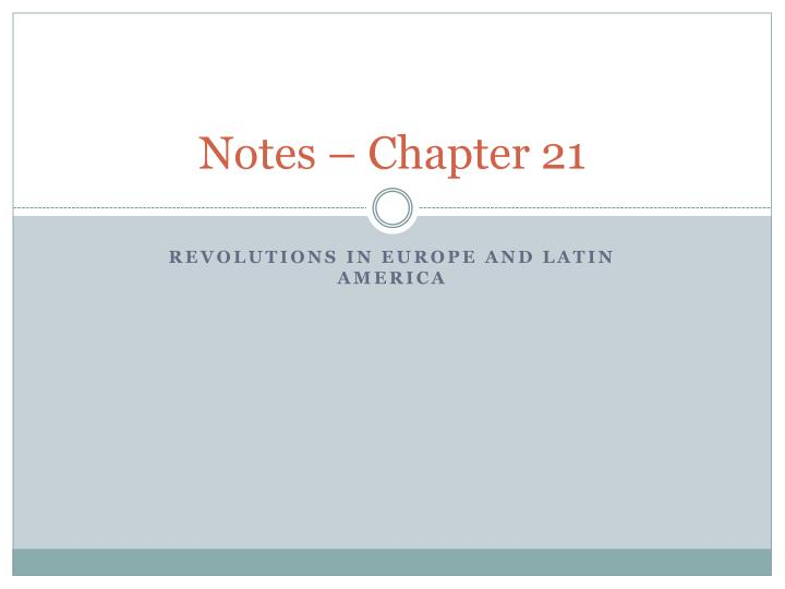 notes chapter 21 n.