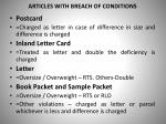articles with breach of conditions