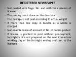 registered newspaper