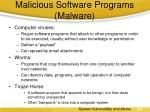 malicious software programs malware