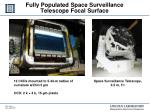fully populated space surveillance telescop e focal surface