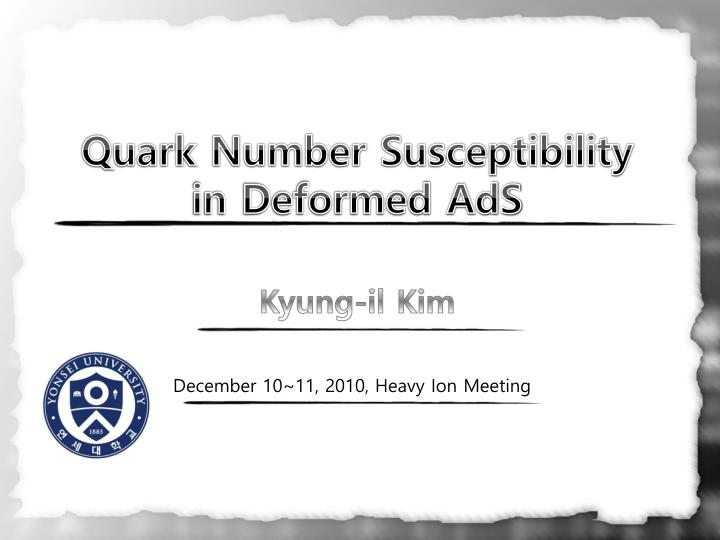 quark number susceptibility in deformed ads n.