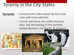 tyranny in the city states