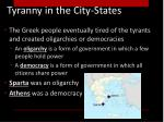 tyranny in the city states1