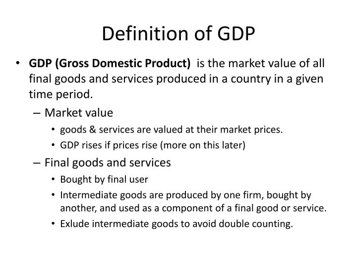 Definition of gdp