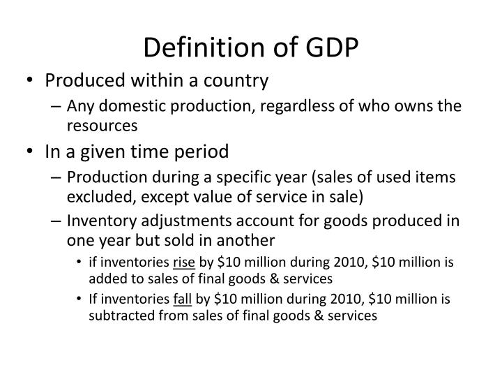 Definition of gdp1