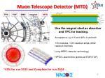 muon telescope detector mtd