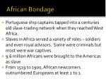 african bondage