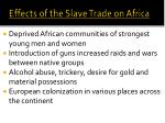 effects of the slave trade on africa
